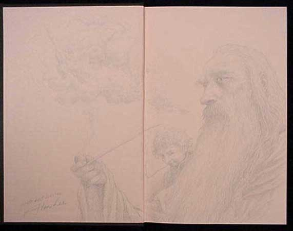 Original hand drawn sketch by Alan Lee